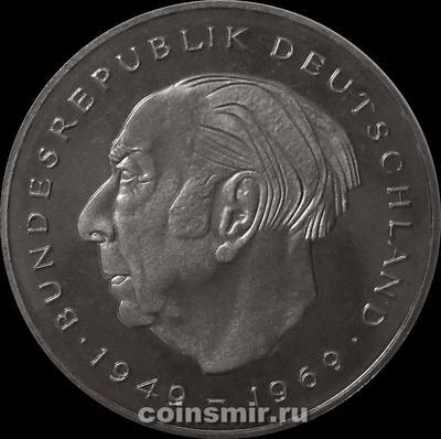 2 марки 1980 J Германия (ФРГ). Теодор Хойс. Пруф.