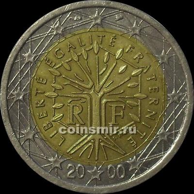 2 евро 2000 Франция. VF