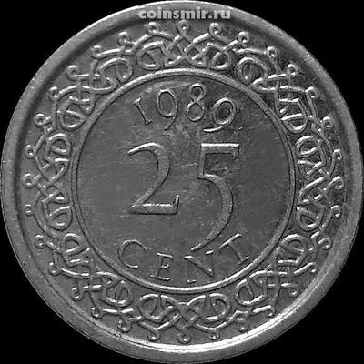 25 центов 1989 Суринам.