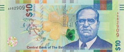 10 долларов 2016 Багамские острова.
