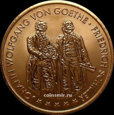 Жетон  Иоганн Вольфганг фон Гёте и Фридрих Шиллер. Германия.
