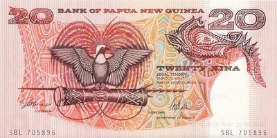 20 кин 1988-2002 Папуа-Новая Гвинея.