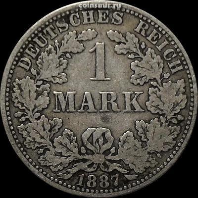 1 марка 1887 А Германия.