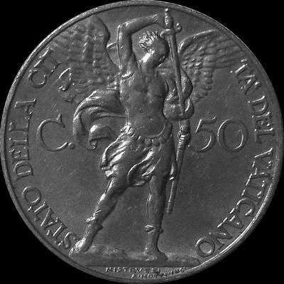 50 чентезимо 1932 Ватикан.