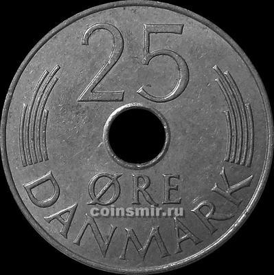25 эре 1986 Дания. (в наличии 1987 год)