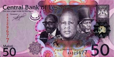 50 малоти 2010 Лесото.