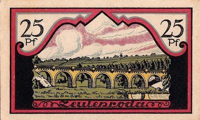 25 пфеннигов 1921 Германия. г. Цойленрода (Тюрингия) . Нотгельд.