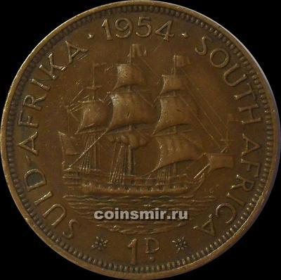 1 пенни 1954 Южная Африка.