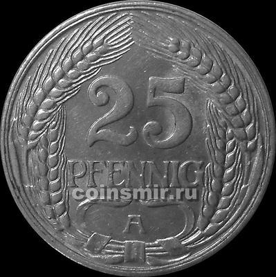 25 пфеннигов 1911 А Германия.