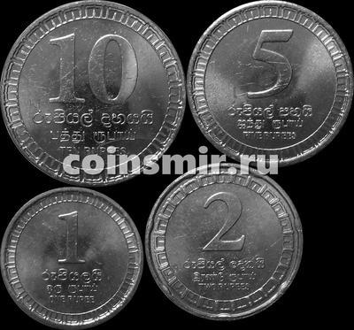 Набор из 4 монет 2017 Шри Ланка.