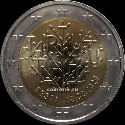 2 евро 2020 Эстония. 100 лет Тартускому договору между РСФСР и Эстонией.
