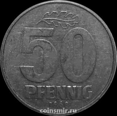 50 пфеннигов 1968 А  Германия ГДР.