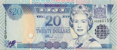 20 долларов 2002 Фиджи.