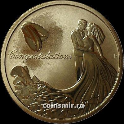 1 доллар 2016 Австралия. Свадьба.