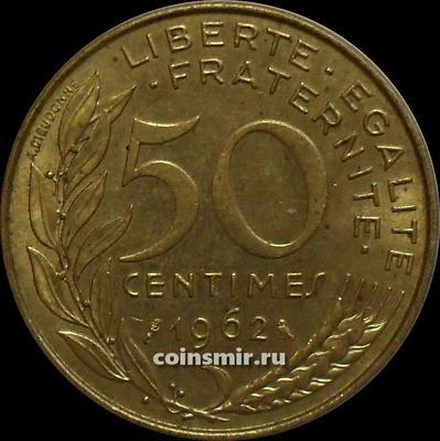 50 сантимов 1962 Франция.