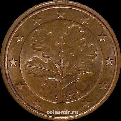 1 евроцент 2004 G Германия.
