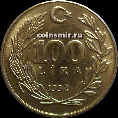 100 лир 1992 Турция.
