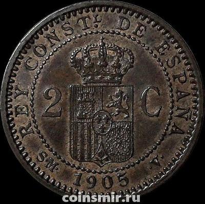 2 сентимо 1905 (05) Испания. SМ-V.