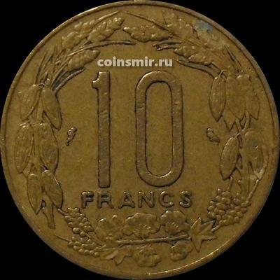 10 франков 1967 Экваториальная Африка, Камерун.