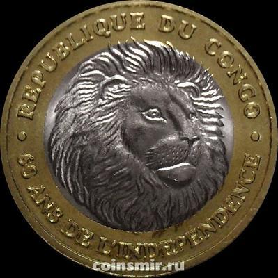 1000 франков 2020 Конго. Лев. 60 лет независимости.