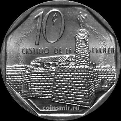 10 сентаво 2009 Куба.  Ла-Реаль-Фуэрса.