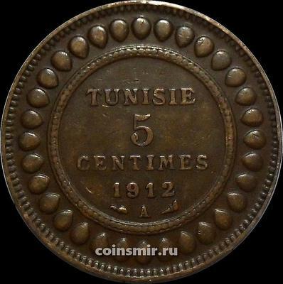 5 сантимов 1912 Тунис.
