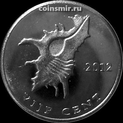 5 центов 2012 остров Саба.