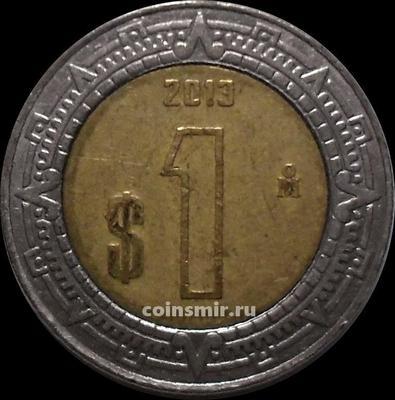 1 песо 2013 Мексика.