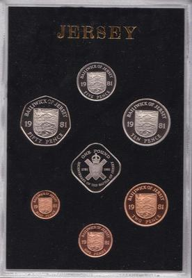Набор из 7 монет 1981 Джерси. Пруф.
