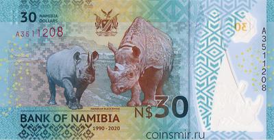 30 долларов 2020 Намибия. 30 лет независимости.
