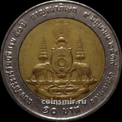 10 бат 1996  Таиланд. 50-летие правления короля Рамы IX. Состояние на фото.