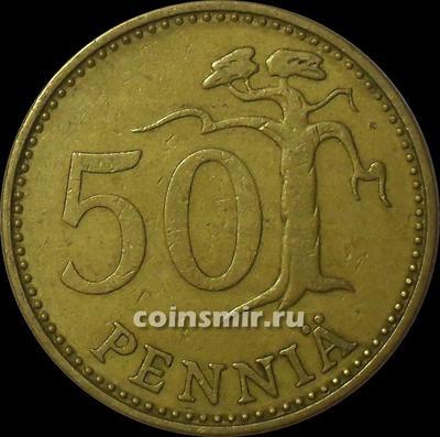 50 пенни 1971 S Финляндия.