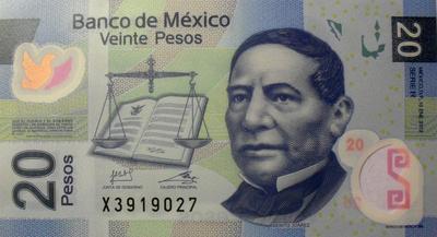 20 песо 2012 Мексика.