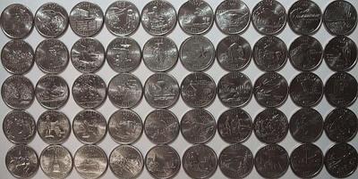 Набор квотеров (25 центов) США 50 штатов. Двор Р.