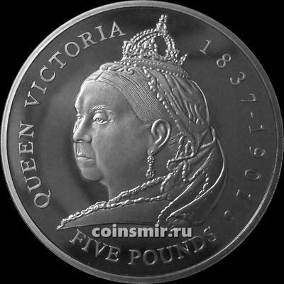 5 фунтов 2001 Гернси. Королева Виктория.