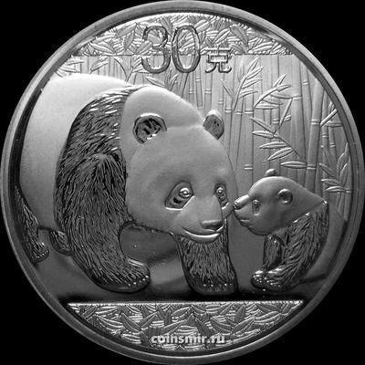 30 грамм 2011 Китай. Панда с детёнышем.