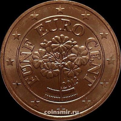 5 евроцентов 2013 Австрия. Альпийская примула.