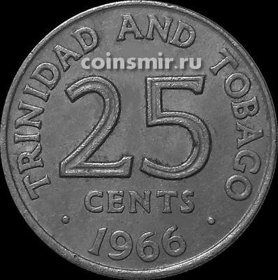 25 центов 1966 Тринидад и Тобаго.