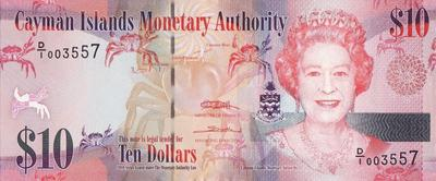 10 долларов 2010 Каймановы острова.