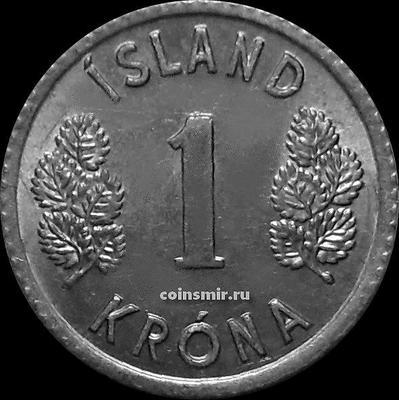 1 крона 1977 Исландия.