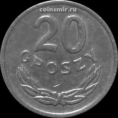 20 грошей 1976 Польша. Малая дата.