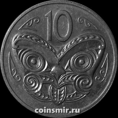10 центов 1980 Новая Зеландия. Маска Маори. VF-XF.