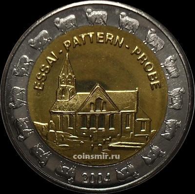 2 евро 2004 Фарерские острова. Европроба. Ceros.