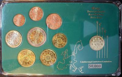 Набор евро монет 2002,2003 Португалия. Пластик.