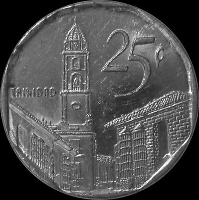25 сентаво 2001 Куба.