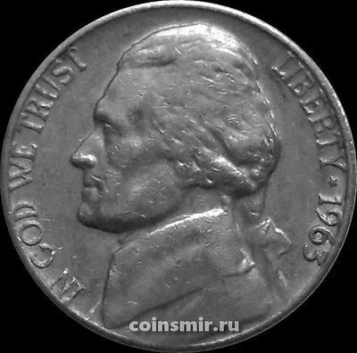5 центов 1963 США. Томас Джефферсон.