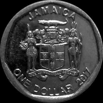 1 доллар 2017 Ямайка. Александр Бустаманте.