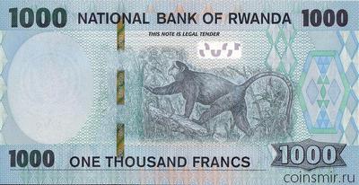 1000 франков 2019 Руанда.