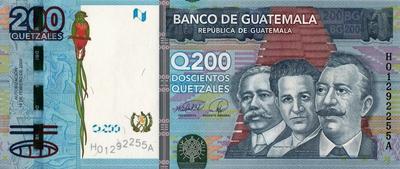 200 кетсалей 2009 Гватемала.