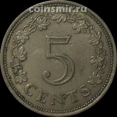 5 центов 1972 Мальта.